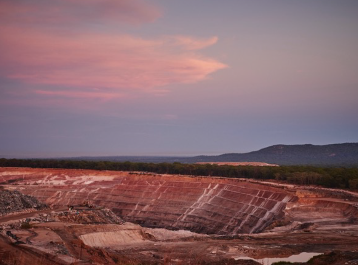 An open pit emerald mine at Kagem, Zambia, an example of large-scale mining. Photo courtesy of Gemfields